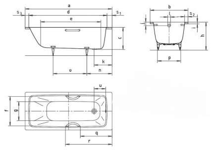 Стальная ванна KALDEWEI 275100010001