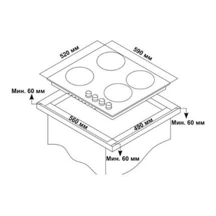 Встраиваемая газовая панель Novex ND 6020 B