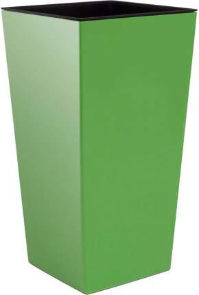 Prosperplast Кашпо с контейнером URBI SQUARE 32,5 * 32,5 см, высота 61 см оливковый