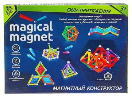 Конструктор магнитный Необычные фигуры, 68 деталей Sima-Land