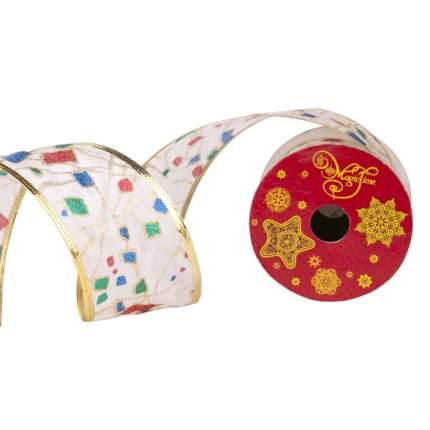 Лента декоративная Феникс Present Разноцветные квадратики 6,3x270 см