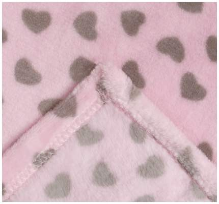 Плед Крошка Я Сердечки цвет розовый 160×200 см