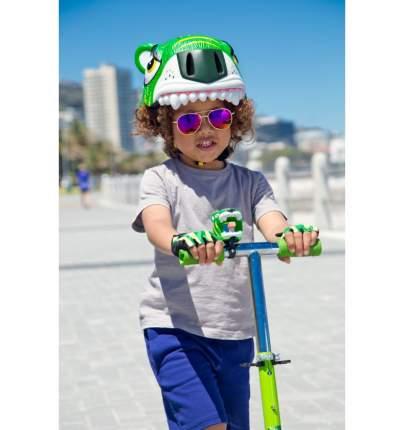 Шлем защитный детский Crazy Safety 2017 Green Tiger зелёный