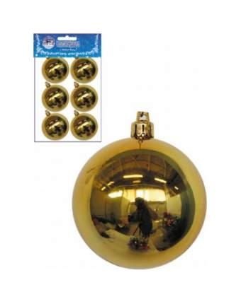 Набор шаров на ель Snowmen Золотые шары Е50336 6 см 6 шт.