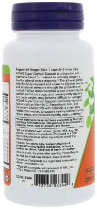Для нервной системы NOW Super Cortisol Support 90 капсул