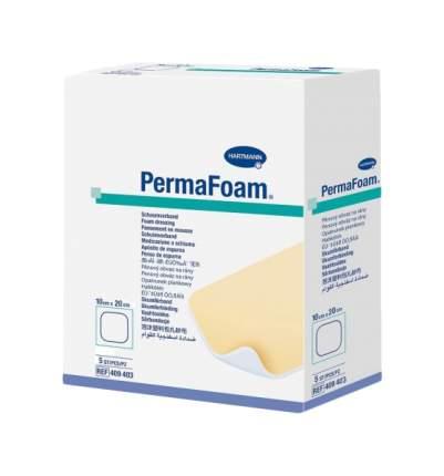 Повязка Permafoam губчатая для ран с сильным экссудатом 10 х 20 см 5 шт.