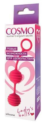 Розовые вагинальные шарики с ребрышками Cosmo