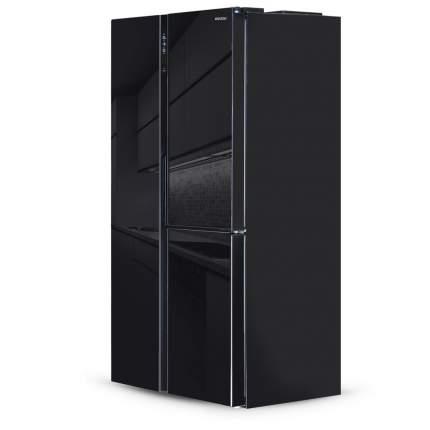 Холодильник Side-by-Side Ginzzu NFK-475 Black glass