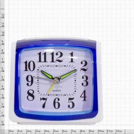 Часы-будильник VT Часы будильник настольные белые с синей рамкой 4501051 4501051