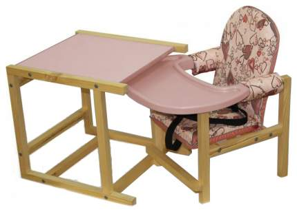 СЕНС- М Стул-стол для кормления СТД 07 пластиковая столешница Розовый СТД0706