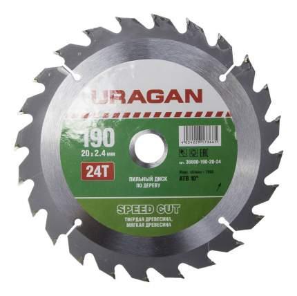 Диск по дереву для дисковых пил Uragan 36800-190-20-24