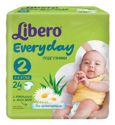 Подгузники для новорожденных Libero Everyday Size 2 (3-6кг), 24 шт.