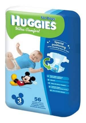 Подгузники Huggies Ultra Comfort для мальчиков 3 (5-9 кг), 56 шт.