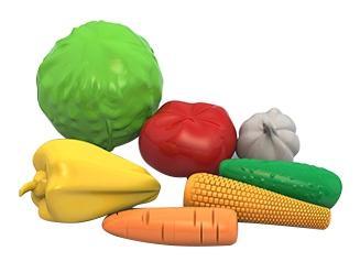 Набор овощи (7 предметов в сетке)