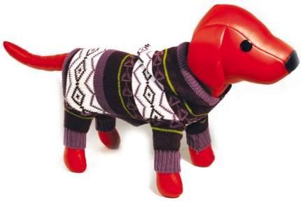 Свитер для собак DEZZIE размер XS унисекс, фиолетовый, коричневый, белый