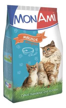 Сухой корм для кошек MonAmi, мясное ассорти, 10кг