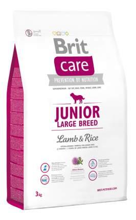 Сухой корм для щенков Brit Care Junior Large Breed, для крупных пород, ягненок и рис, 3кг