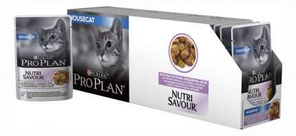Влажный корм для кошек PRO PLAN Nutri Savour Housecat, индейка, 24шт, 85г