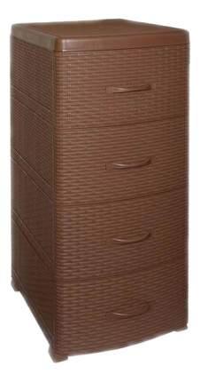 Комод Виолет Ротанг четырехсекционный какао (0357/17)
