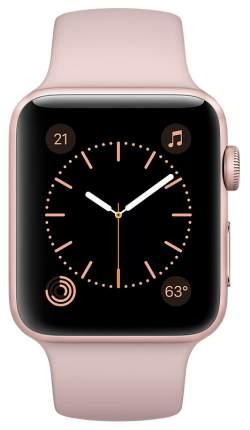 Смарт-часы Apple Watch Series 2 42mm Rose Gold Al/Pink (MQ142RU/A)