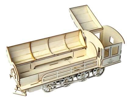 Конструктор деревянный Lemmo Пенал-паровоз