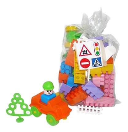 Конструктор пластиковый Полесье Строитель, 68 элементов