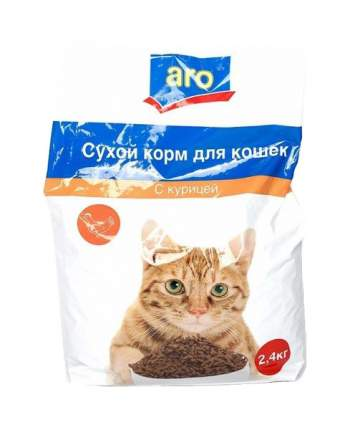 Сухой корм для кошек Aro, курица, 2,4кг