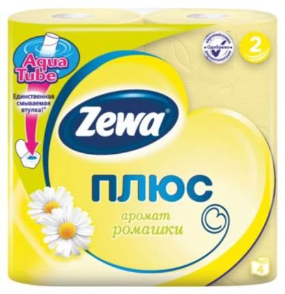 Туалетная бумага Zewa Plus с ароматом ромашки 4 шт.