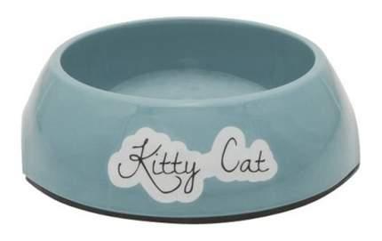 Одинарная миска для кошек Beeztees, пластик, голубой, 0.2 л