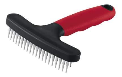 Расческа для собак Ferplast металл, цвет черный, красный