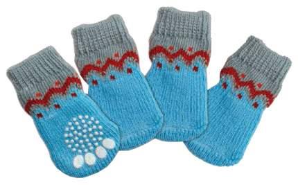 Носки для собак Triol размер M унисекс, голубой
