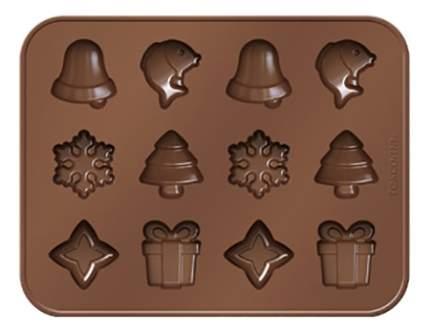 Формочки для шоколада DELICIA SILICONE, рождественские мотивы