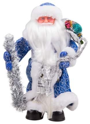 Кукла декоративная Яркий праздник Дед Мороз Синий 30 см