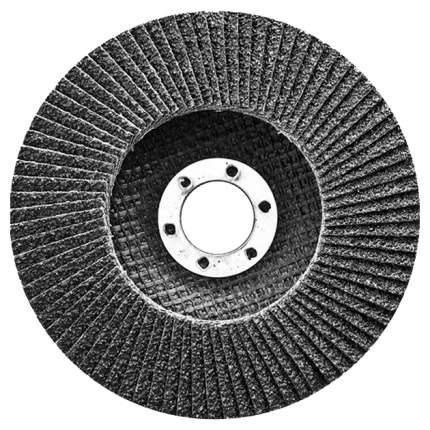 Круг лепестковый шлифовальный для шлифовальных машин СИБРТЕХ 74096 Р 60, 180 х 22,2 мм