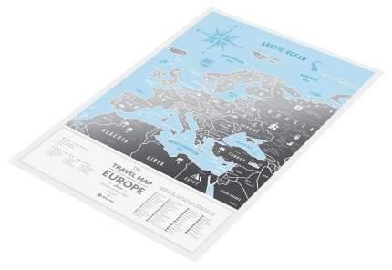 Географическая карта 1DEA.me Travel Map Silver Europe