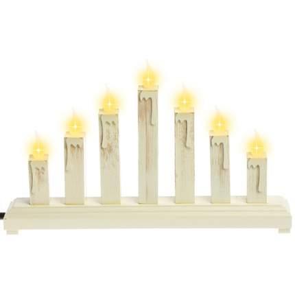 Sigro Светильник-горка «Сияющие свечи» 37*6*22 см, 7 свечей 52-10101