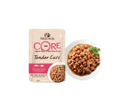 Влажный корм для кошек Wellness CORE Tender Cuts, лосось и тунец в пикантном соусе, 85г