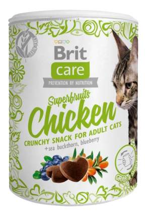 Снэки для кошек Brit Care, курица, облепиха крушинна, голубика, 0,1кг