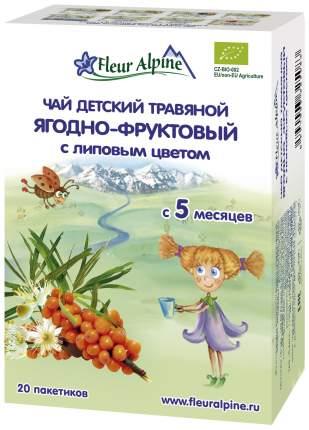 Чай Fleur Alpine Ягодно-фруктовый с липовым цветом с 5 мес 30 г