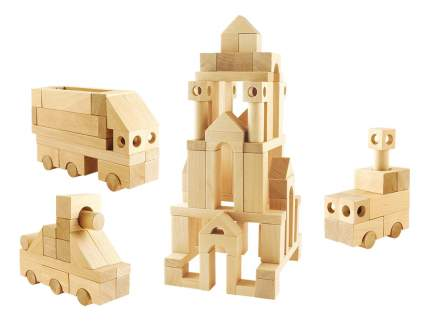 Конструктор деревянный ПЕЛСИ Строительный набор 3. Теремок