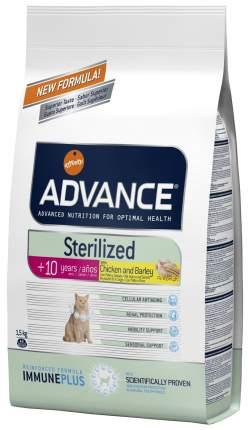 Сухой корм для кошек Advance Sterilized 7 Years Senior, для пожилых, курица, 1,5кг