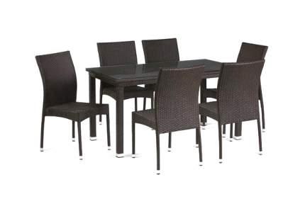 Набор дачной мебели Afina T256A/Y380A-W53 Brown 6Pcs