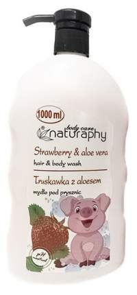 Гель для душа BluxCosmetics STRAWBERRIES Naturaphy Hair & Body washes with pump 1000 мл