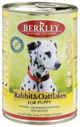 Корм для собак BERKLEY , кролик, овсяные хлопья, 1шт, 400г