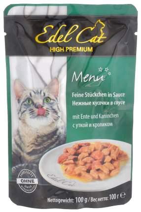 Влажный корм для кошек Edel Cat Menu, утка, кролик, 20шт по 100г