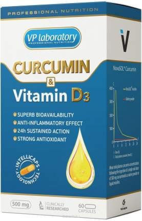 Куркумин + витамин D3 VPLab 60 капс.