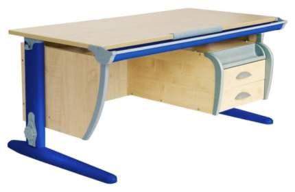 Парта Дэми СУТ-15-03 с подвесной тумбой Клен Синий 120х55 см