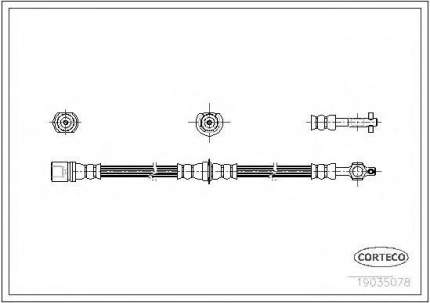 Шланг тормозной системы Corteco 19035078
