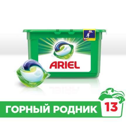 Гель для стирки Ariel liquid capsules автомат в растворимых капсулах горный родник 13*27 г
