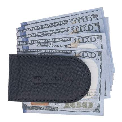 Зажим для денег кожаный Bouletta Money Clip, Синий